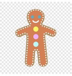 gingerbread man icon flat style vector image