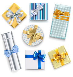 glossy gift boxes set 2 vector image
