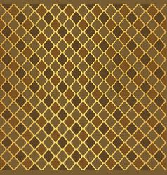 gold luxury moroccan motif tile pattern vector image