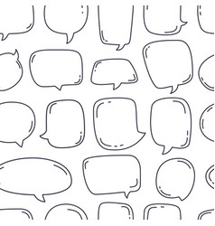 hand drawn speech bubbles seamless pattern on vector image