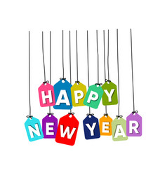 happy new year word vector image