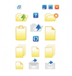 Icons for common computer func vector