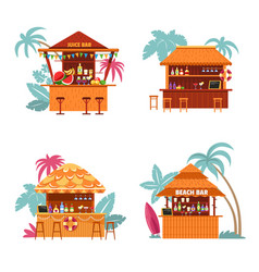 juice bar and place to buy alcoholic beverage vector image