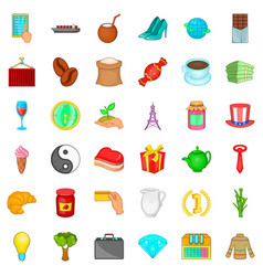 kettle icons set cartoon style vector image