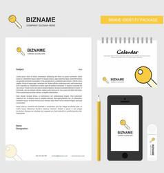 key business letterhead calendar 2019 and mobile vector image