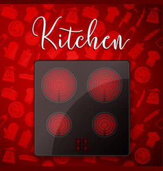 kitchen concept induction vector image