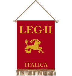 Legio ii divitensium italica standard vector