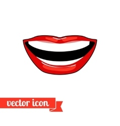 Lips icon 8 vector