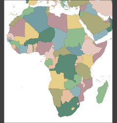 Map africa continent with countries vector