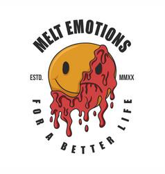 melt emotions vector image