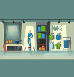 men s clothing shop male fashion boutique vector image