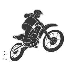 Motoracer on motorbike vector image