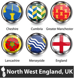 North west england uk vector