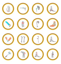 Orthopedic and spine icons circle vector
