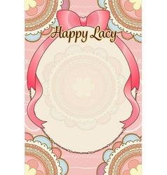 pastel pink peach cute bohemian scribble round vector image