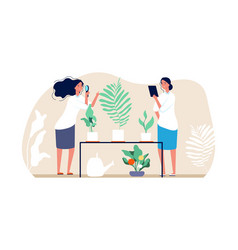 planting and gardening florists women home vector image