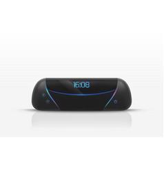 portable speaker digital radio clock 3d vector image