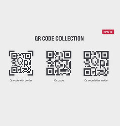 qr codes collection set internet related vector image