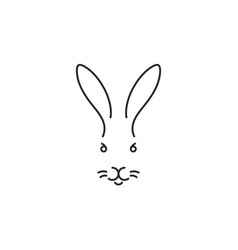 rabbit outline style vector image