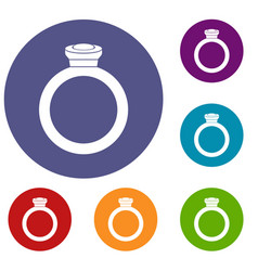 ring icons set vector image