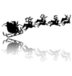 Santa Claus drives in a sleigh vector