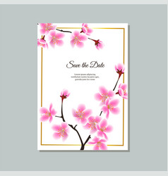 save date card or wedding invitation vector image