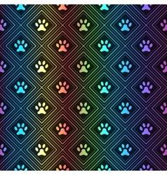 Seamless animal spectrum pattern paw footprint vector
