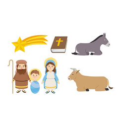 set happy epiphany catholic religion celebration vector image
