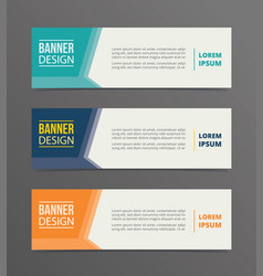 side arrow banner template design with horizontal vector image