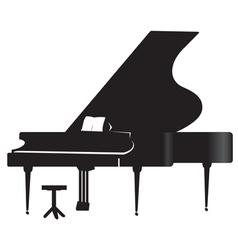 Silhouette of a grand piano 1 vector