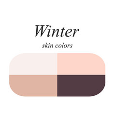Skin colors for winter type vector