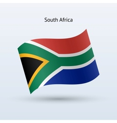 South Africa flag waving form vector