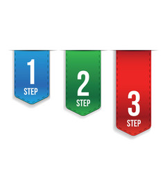 Step One Two Three progress vector image