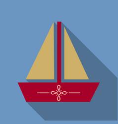 Summer travel design - sail boat vector