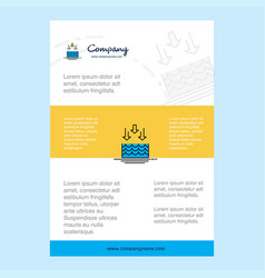 Template layout for water evaporation comany vector