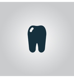 Tooth icon flat symbol vector image