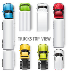 trucks top view vector image