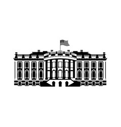 us white house sign icon america government vector image