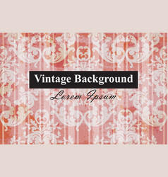 vintage baroque style background luxury vector image
