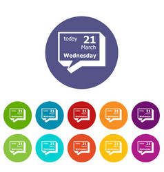 wednesday calendar icon simple style vector image