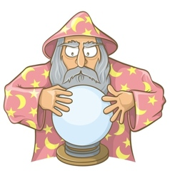 Wizard ball pink vector