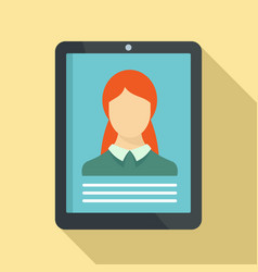 woman online learning icon flat style vector image