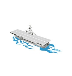 World War Two Aircraft Carrier Retro vector image vector image