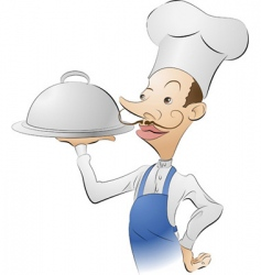 chef illustration vector image vector image