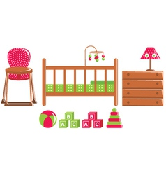 Children furniture and toys vector image vector image