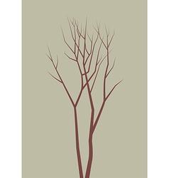 Isolated dead tree vector