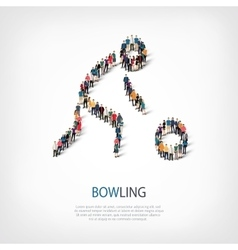 people sports bowling vector image vector image