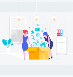 secretary or a clerk working at her office vector image