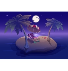 Summer rest Romantic night on tropical island vector image vector image