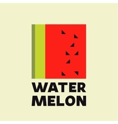 Watermelon Abstract logo icon sign flat vector image vector image